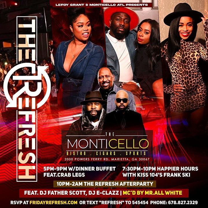 The ReFresh at MONTICELLO with Happier Hours·Live Music·Great Food·DJs image