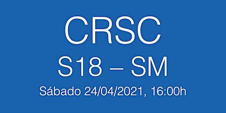 Partido CRSC S18 - Senior Masculino, sábado 24/04/21 - 16.00h entradas