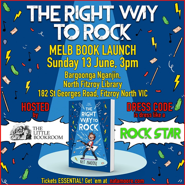 Book Launch: The Right Way To Rock by Nat Amoore image