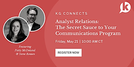 B2B Analyst Relations: The Secret Sauce to Your Communications Program tickets
