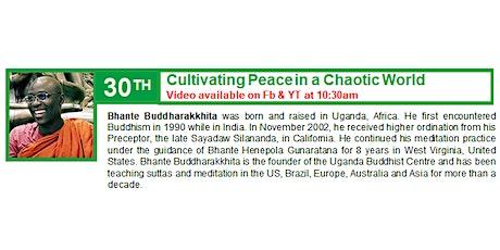 30 May Sunday Service:  Talk by Bhante Buddharakkhita tickets