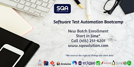 Online 7- week Software Test Automation Bootcamp/Start - June 7, 2021* tickets