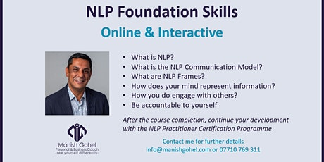 NLP Foundation Skills - Online & Interactive - 1 Day Event tickets