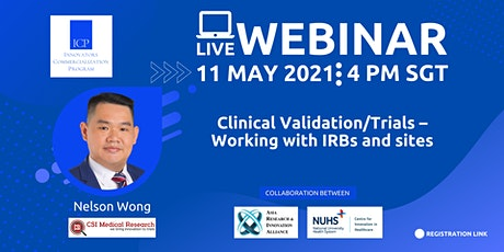 Clinical Validation/Trials – Working with IRBs and sites tickets