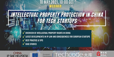IP protection in China for European tech startups tickets