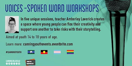 Copy of Voices - Spoken Word Workshops - Ages 14-18 years - workshop 4 tickets