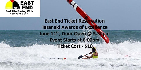 East End Ticket for Taranaki Awards of Excellence 2021 tickets