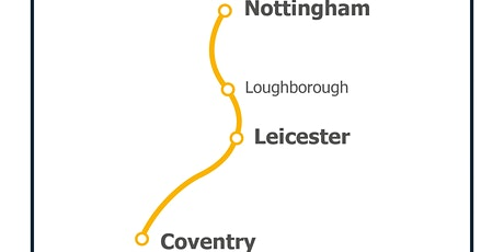 Connecting Coventry, Leicester and Nottingham by rail tickets