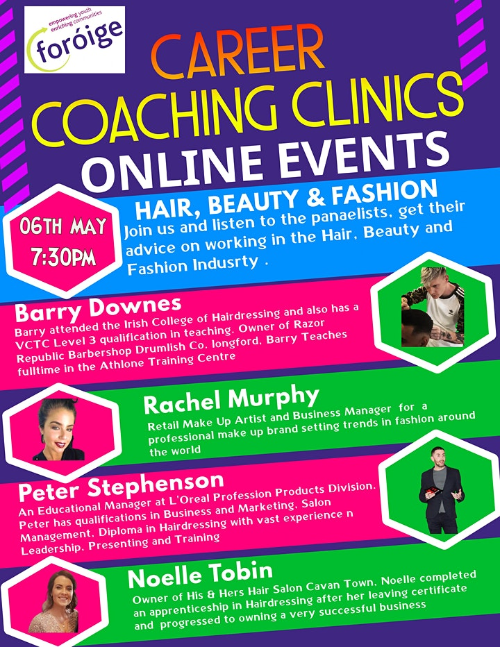 Foróige Careers Coaching Clinic - Hair, Beauty & Barbering image