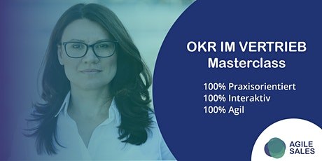 OKR im Vertrieb - Masterclass Tickets