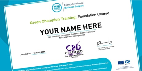 Train to become a CPD-certified Green Champion tickets