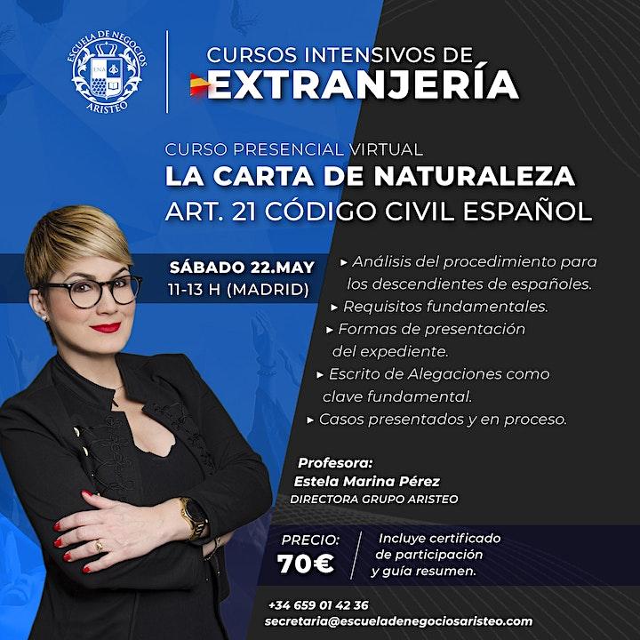 Imagen de Curso Presencial Virtual:  Carta de naturaleza en España.