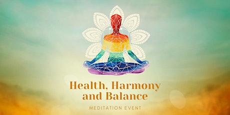 Health, Harmony, and Balance Meditation tickets