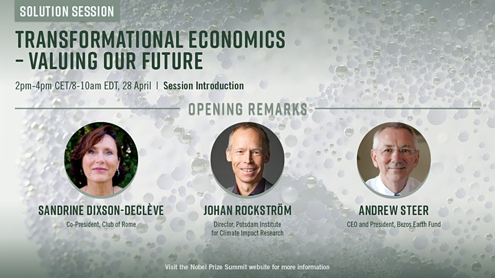 Nobel Prize Summit: Transformational Economics - Valuing Our Future image