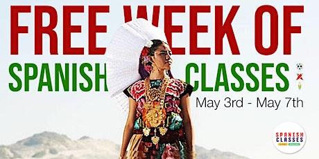 FREE WEEK OF SPANISH CLASSES entradas