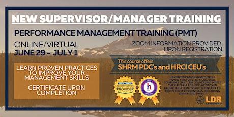 New Supervisor / Manager Training boletos