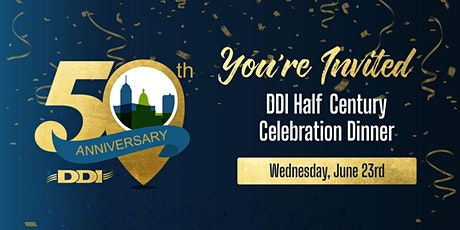 DDI 50th  Anniversary Celebration Dinner tickets