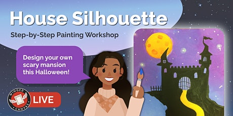 Acrylic Painting Workshop - Step by Step Lesson for Kids (House Silhouette) tickets