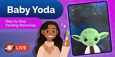 Acrylic Painting Workshop - Step by Step Lesson for Kids (Baby Yoda) tickets