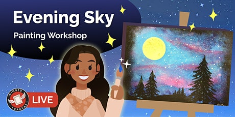 Acrylic Painting Workshop - Step by Step Lesson for Kids (Evening Sky) tickets