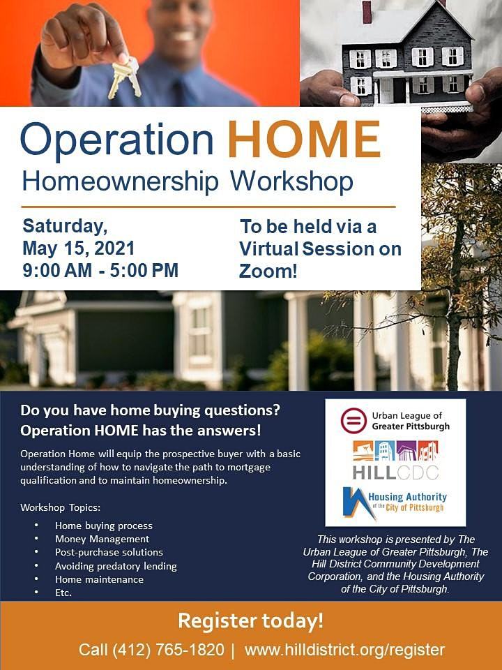 Operation Home Workshop - May 2021 image