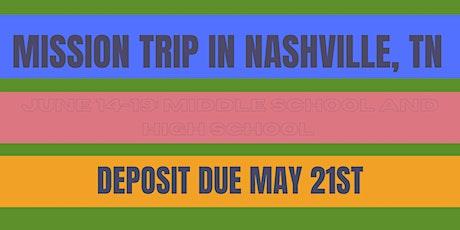 Mission Trip in Nashville, TN tickets