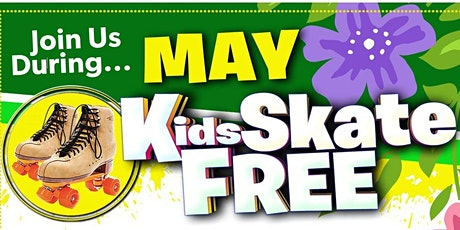 Kids Skate FREE with this Ticket - Sunday, May 16th, 1:00-3:30pm tickets