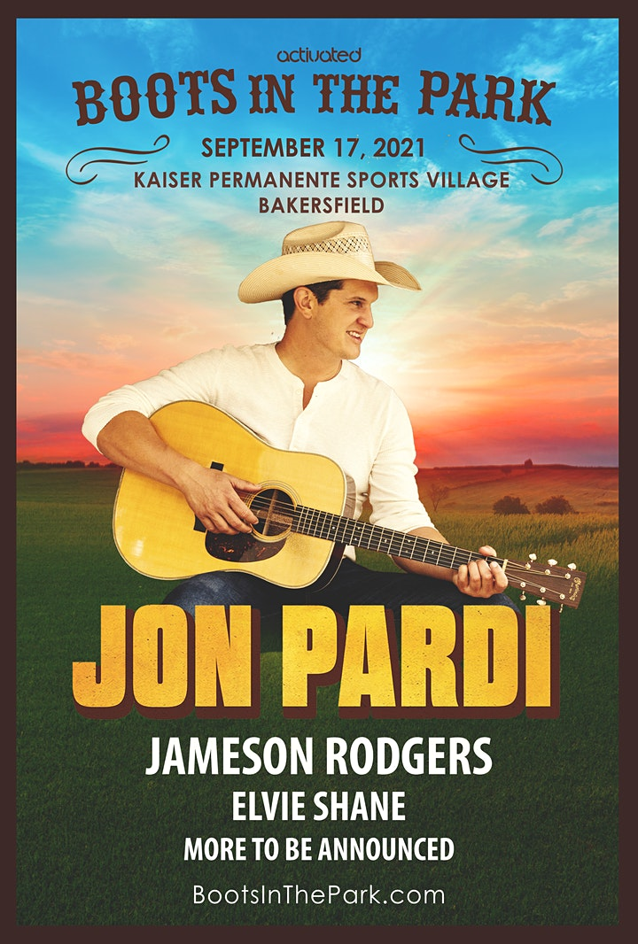 Boots in the Park w/ Jon Pardi presented by Activated Events image