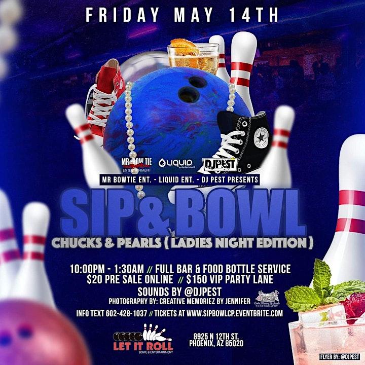 Sip & Bowl - Chucks & Pearls Ladies Night  Edition image