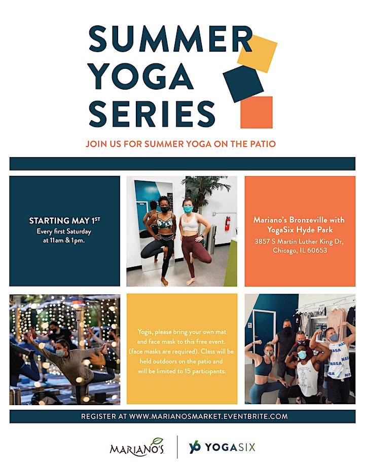 Mariano's Bronzeville Summer Yoga Series with YogaSix - Hyde Park image