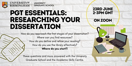 PGT Essentials: Researching Your Dissertation tickets