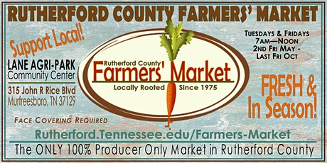 Rutherford County Farmers' Market tickets