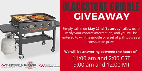 Blackstone Griddle Giveaway tickets