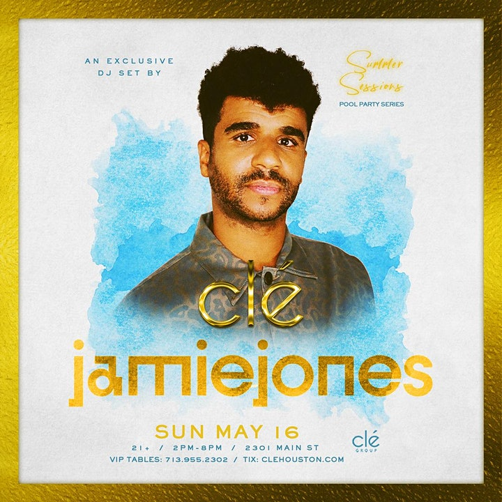 Jamie Jones / Sunday May 16th / Clé Summer Sessions image