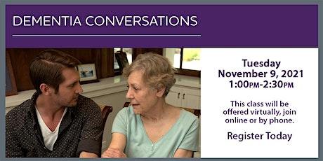 VIRTUAL - ALZHEIMER'S EDUCATION  - Dementia Conversations tickets