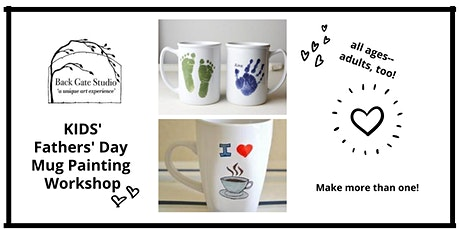 Fathers' Day Mug Painting Workshop: all ages- adults, too! tickets