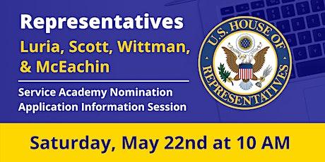 Reps. Luria, Scott,  Wittman, McEachin: Service Academy Nomination Info Day tickets