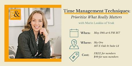 Time Management Techniques tickets