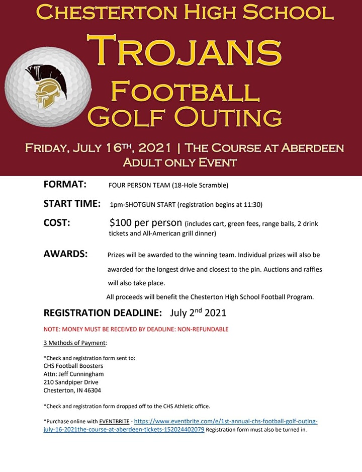1st Annual CHS Football Golf Outing - July 16, 2021@the Course at Aberdeen image