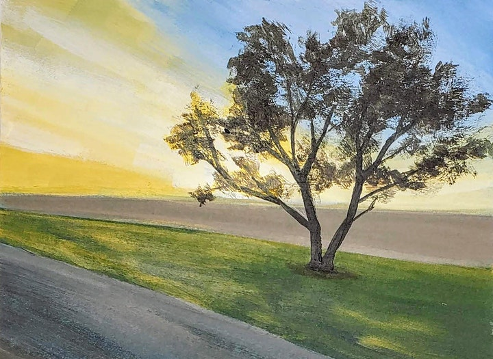 Landscape Acrylic Painting (13+) Art Intensives for Teens image