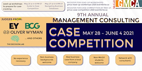 McGill GMCA presents: Management Consulting Case Competition 2021 tickets