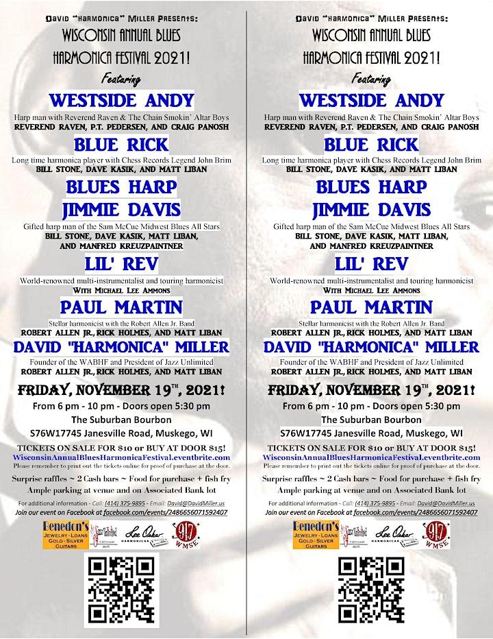 Wisconsin Annual Blues Harmonica Festival 2021 image