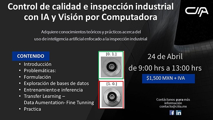 Imagen de Control de calidad e inspección industrial con IA y Visión por Computadora