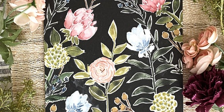 Midnight Florals Watercolor and Wine for Mother's Day 2 tickets