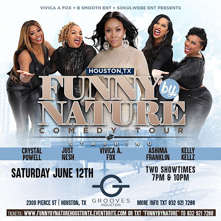 Houston Tx Vivica A Fox Presents Funny By Nature Comedy Tour image