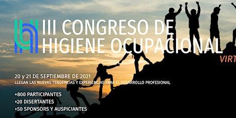 III Congreso de Higiene Ocupacional entradas