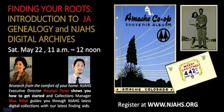 Finding Your Roots: An Introduction to NJAHS Digital Archives and Genealogy tickets