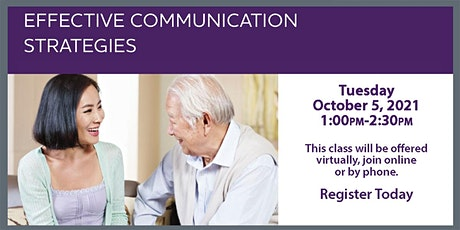 VIRTUAL ALZHEIMERS ASSOCATION - Effective Communication tickets