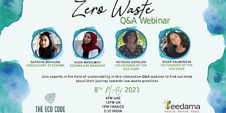 Zero Waste Q&A Webinar tickets