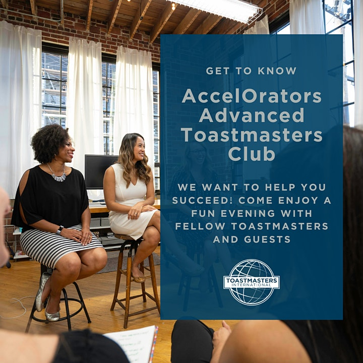 AccelOrators Advanced Toastmasters Club Virtual Open House image